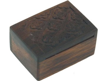 Guru-Shop Aufbewahrungsdose »Beschnitzte kleine Schatztruhe, Holzschachtel,..«