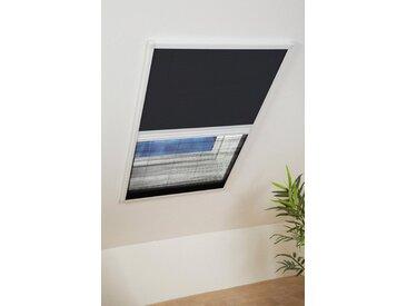 hecht international Insektenschutz-Dachfenster-Rollo, weiß/schwarz, BxH: 110x160 cm
