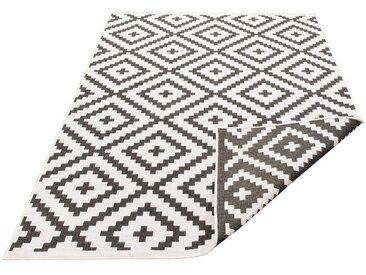 my home Teppich »Ronda«, rechteckig, Höhe 5 mm, In- und Outdoor geeignet, Sisaloptik, Wendeteppich, schwarz, schwarz