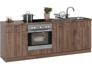 wiho Küchen Küchenzeile »Tacoma«, ohne E-Geräte, Breite 220 cm, braun, Memphis light