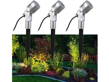 VBLED LED Gartenstrahler »® 6W Gartenstrahler Gartenleuchte Komplettset 3000K Warmweiß IP65 12V inkl. Netzteil und Verbindungsstecker«