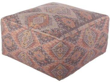 Casa Moro Pouf »Indischer Sitzpouf Nadi mit Füllung 60x60x30 cm (B/T/H) quadratisches Sitzkissen Handmade Sitzwürfel mit Ethno Design«, Handmade, MA6424