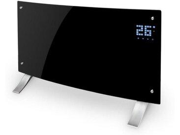 Klarstein Konvektions-Heizgerät Thermostat Timer »Bornholm Curved B«, schwarz, schwarz