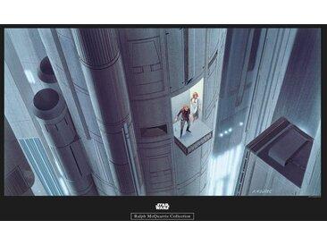 Komar KOMAR Wanddekoration »Star Wars Classic RMQ Escape Plan«, ohne Rahmen, bunt, 70 cm, bunt