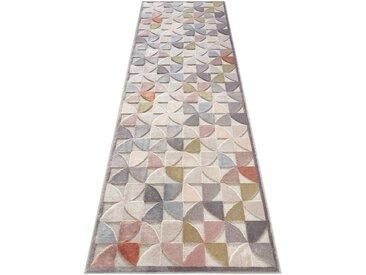 ELLE Decor Läufer »Ailette«, rechteckig, Höhe 8 mm, Hoch-Tief-Struktur, grau, grau-bunt