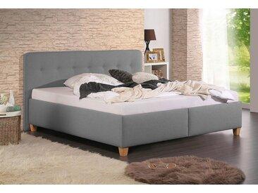 Home affaire Polsterbett »Figaro«, mit oder ohne Matratze in 2 Ausführungen, Härtegrad 2 oder 3, grau, Bettgestell ohne Matratze