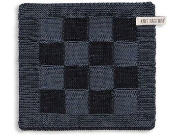 Knit Factory Tischdecke »Topflappen Block Schwarz/Granit«