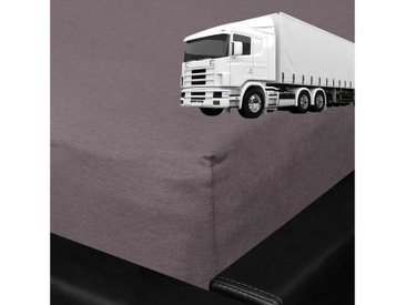 BETTWARENSHOP Spannbettlaken »LKW Truck«, für die Fernfahrer Schlafkabine, grau, grafit