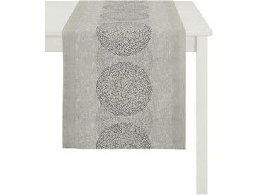 APELT Tischläufer »1114 Loft Style, Jacquard« (1-tlg), grau, taupe-grau