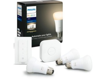 Philips Hue »White 3er Starter Set 3x806lm Dimmschalter« LED-Leuchtmittel, E27, Warmweiß