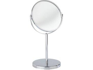WENKO Kosmetikspiegel »Standspiegel Assisi schwenkbar Schminkspiegel mit 300% Vergrößerung Chrom Ø 17 cm«