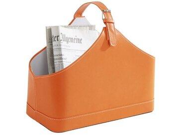 heine home Zeitungssammler Lederoptik Lederoptik Lederoptik, orange, ca. 36/42/23 cm, ca. 36/42/23 cm, orange