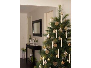 KONSTSMIDE LED Baumbeleuchtung, 10 kabellose Kerzen, weiß, Lichtquelle warm-weiß, Weiß