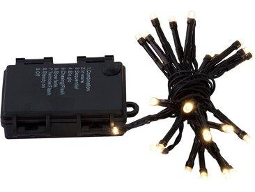 BigDean Lichterkette »24 LED warmweiß inkl. 8 Funktionen und Timer − Für Innen− und Außenbereich − Batteriebetrieben«