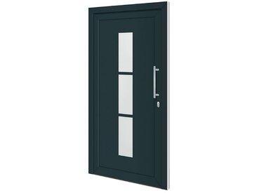 RORO Türen & Fenster RORO TÜREN & FENSTER Aluminium-Haustür »Otto 5«, BxH: 110x210 cm, anthrazit/weiß, ohne Griff, grau, rechts, anthrazit