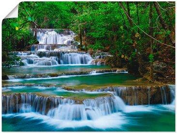 Artland Wandbild »Tiefen Wald Wasserfall«, Gewässer (1 Stück), Poster