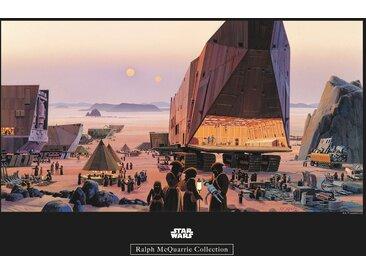 Komar KOMAR Wanddekoration »Star Wars Classic RMQ Java Market«, ohne Rahmen, bunt, 50 cm, bunt