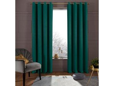my home Verdunkelungsvorhang »Sola«, Kräuselband (1 Stück), Breite 130 cm und 270 cm, grün, dunkelgrün