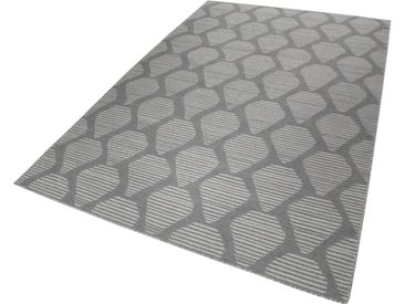 Esprit Wollteppich »Rainns Kelim«, rechteckig, Höhe 4 mm, grau, grau