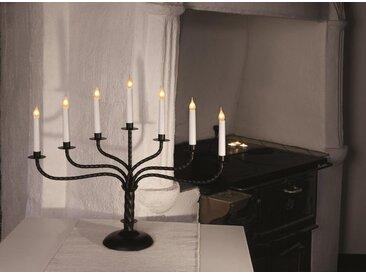 """STAR TRADING Kerzenleuchter »Kerzenleuchter """"Brede"""" - 7 Arme - warmweiße Glühlampen - H: 50cm, L: 59cm - Schalter - schwarz«"""