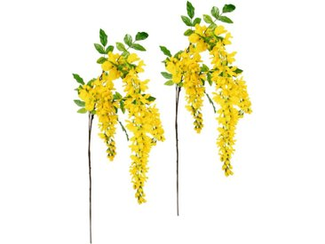 I.GE.A. Kunstblume »Goldregenzweig«, Höhe 95 cm, 2er Set, gelb, gelb