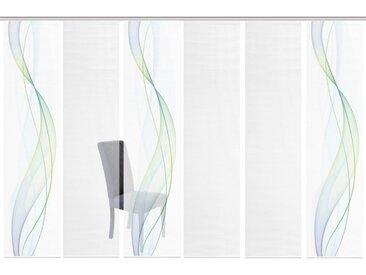 Vision S Schiebegardine »6ER SET HEIGHTS«, Paneelwagen (6 Stück), HxB: 260x60, Schiebevorhang 6er Set Digitaldruck, blau, blau-grün