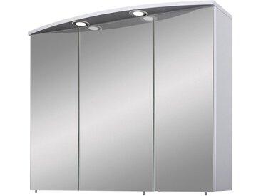 Schildmeyer Spiegelschrank »Verona« Breite 90 cm, 3-türig, 2 LED-Einbaustrahler, Schalter-/Steckdosenbox, Glaseinlegeböden, Made in Germany