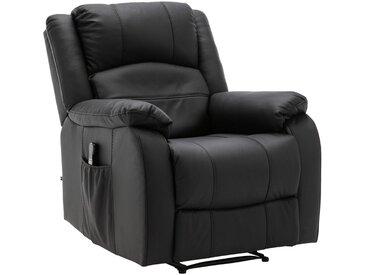 CLP Multimediasessel »Kerpen mit Massagefunktion«, Fernsehsessel aus Kunstleder oder Echtleder TV-Sessel Ruhesessel mit Liegefunktion, schwarz