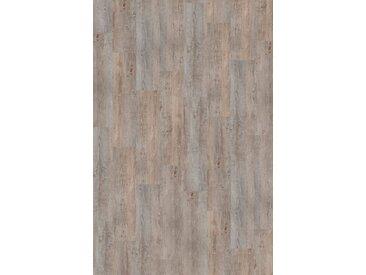 Infloor INFLOOR Teppichfliese »Velour Holzoptik Vintage grau«, selbsthaftend 25 x 100 cm, grau, vintage grau