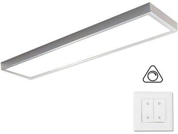 VBLED LED Panel »LED Panel (295x1195x8mm) KIT dimmbar inkl. Aufputzrahmen, Dimmer und Schalter 36W 4000K Neutralweiß«