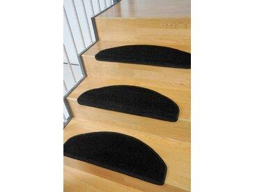 Living Line Stufenmatte »Trend«, halbrund, Höhe 8 mm, 15 Stück, große Farbauswahl, Velours, schwarz, schwarz