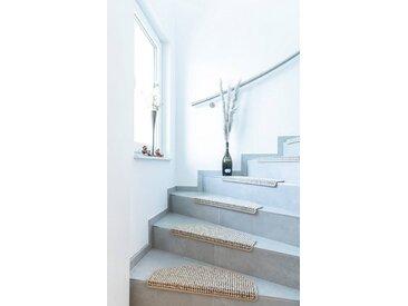 Andiamo Stufenmatte »Newport«, halbrund, Höhe 8,5 mm, Teppich-Stufenmatten, Treppen-Stufenmatten, Treppenschutz, für innen, im Set, meliert, natur