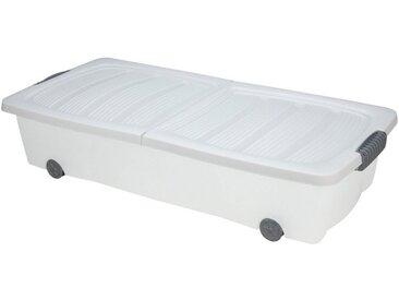 BigDean Unterbettkommode »Weiß 40l Rollbox Räder Unterbettbox Spielzeugkiste«