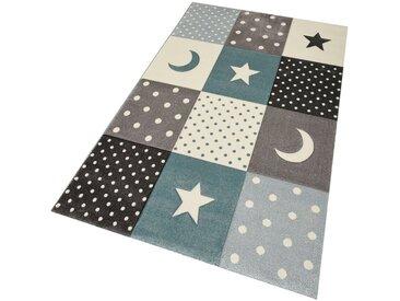 merinos Kinderteppich »Pastel Kids 20340«, rechteckig, Höhe 13 mm, Mond und Sterne, Konturenschnitt