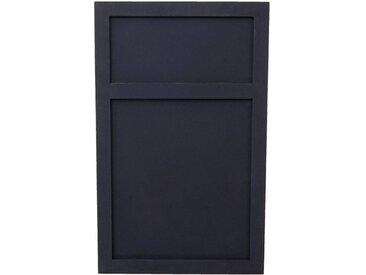 MCW Wandtafel »-C51-t«, Kreidetafel, Dekorativer Shabby-Look, 2 getrennte Schreibflächen, grau, dunkelgrau