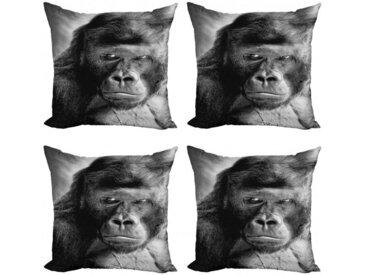 Abakuhaus Kissenbezug »Modern Accent Doppelseitiger Digitaldruck«, Gorilla Ape Portrait Fotografie