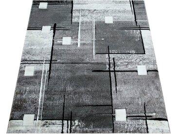 Paco Home Teppich »Florenz«, rechteckig, Höhe 16 mm, Designer Teppich mit Konturenschnitt, Wohnzimmer, grau, grau