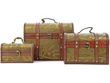 Nerd Clear Aufbewahrungsbox »Schatztruhe - Schmuck-Schatulle Schatulle Set, 3 unterschiedlich große Boxen, ideal als Geschenk oder Deko«