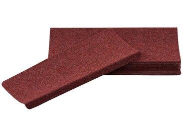 Pergamon Stufenmatte »Trend Nadelfilz Stufenmatte Bent (eckig) 15er-Set«, Eckig, Höhe 8 mm, rot, Rot