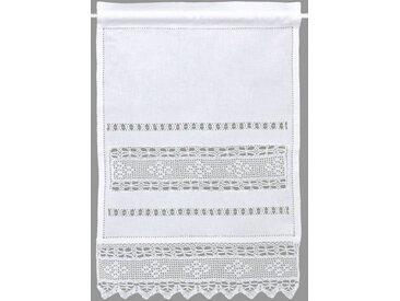 HOSSNER - ART OF HOME DECO Panneaux »Birnhorn«, Stangendurchzug (1 Stück), Häkelspitze - ECHTE Handarbeit