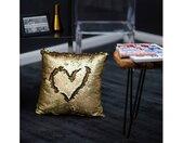 Obsession Dekokissen »My Bling Cushion«, Paillettenkissen, Zierkissen, eckig, 40x40 cm, Wende-Pailletten, inkl. Kissenfüllung, Wohnzimmer, goldfarben