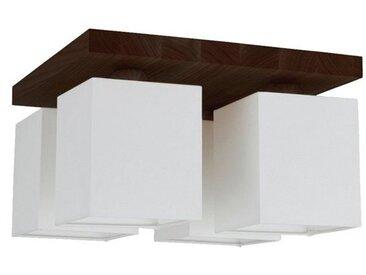 SPOT Light Deckenleuchten »Inger«, Naturprodukt aus Massivholz, Leuchtenschirm aus wertigen Stoff, Nachhaltig mit FSC®-Zertifikat, passende LM E27