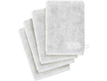 Hugo Boss Home Waschlappen »PLAIN 4-tlg.« (4-tlg), weiß, weiß
