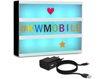 kwmobile LED Dekolicht, Farbwechsel LED Lichtbox A4 - 7 Farben 252x Buchstaben USB Netzteil - Cinema Lightbox - Deko Licht Leuchtkasten - Light Box