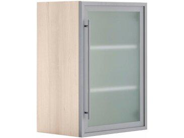 OPTIFIT Glashängeschrank, Breite 50 cm, grau, alu/akaziefarben