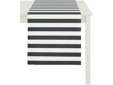 APELT Tischläufer »DELFI, LOFT STYLE, Jacquard« (1-tlg), schwarz, schwarz-weiß