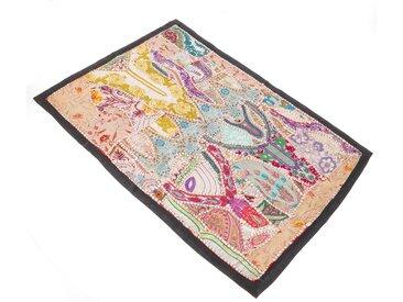 Guru-Shop Wandteppich »Indischer Wandteppich Patchwork..«, Höhe 65 mm, Muster 10