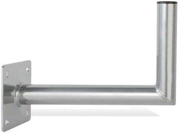 PremiumX »40cm Wandhalter Aluminium extra Große Wandplatte Winkel Halter TÜV L-Wand-Halterung für SAT-Schüssel Satelliten-Antenne Wandabstand 400mm« SAT-Halterung