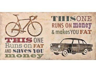 Home affaire Deco-Panel »Skip Teller / Bikes vs. Car«, 100/50/2 cm