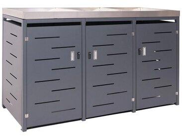 MCW Mülltonnenbox »-H40-3«, Für Mülltonnen mit 80 bis 240 Liter Fassungsvermögen, abschließbar, erweiterbar